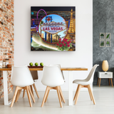 Las Vegas Square Canvas - The Green Gypsie