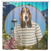 Henry Basset Hound Shower Curtain