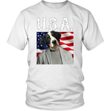 Bernie Bernese Mountain Dog USA T Shirt - The Green Gypsie