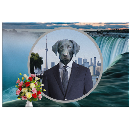 Frankie Black Labrador Rectangle Canvas