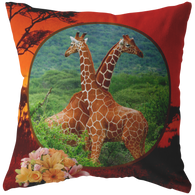 Lucy & Ricky Giraffe Pillow - The Green Gypsie
