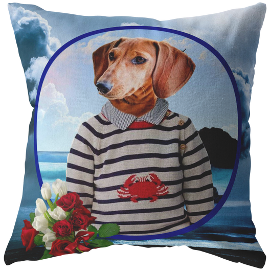 Donny Dachshund Pillow