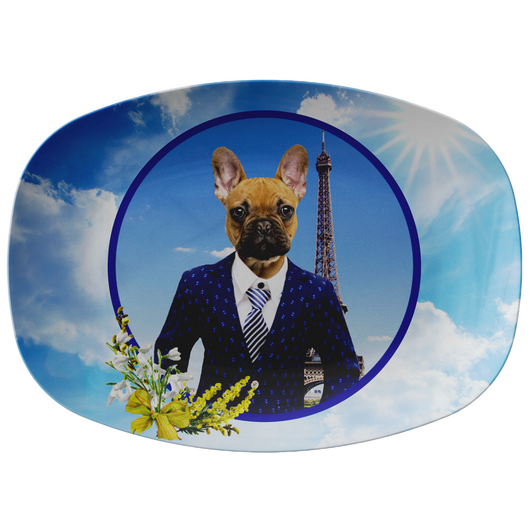 Finn French Bulldog Platter - The Green Gypsie