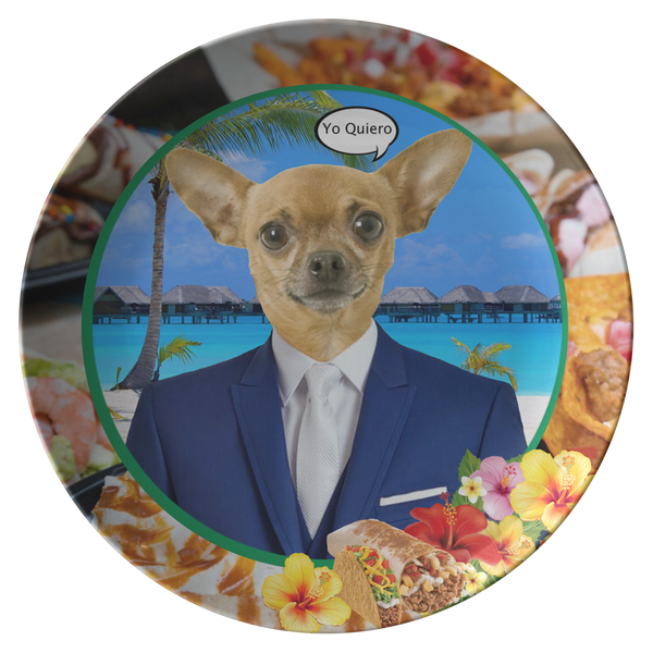 Chico Taco Chihuahua Plate - The Green Gypsie