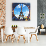 France Eiffel Tower Square Canvas - The Green Gypsie