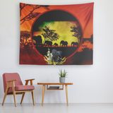 Elephant Sunset Tapestry - The Green Gypsie