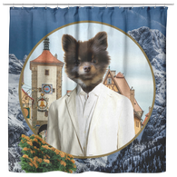 Cory Pomeranian Shower Curtain