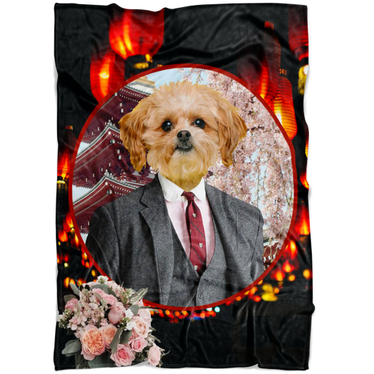 Ollie Shih Tzu Blanket - The Green Gypsie