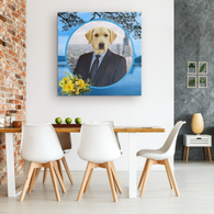Louie Labrador Retriever Square Canvas - The Green Gypsie