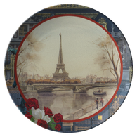 Vintage Eiffel Tower Plate - The Green Gypsie