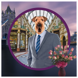 Bingley Airedale Terrier Square Canvas
