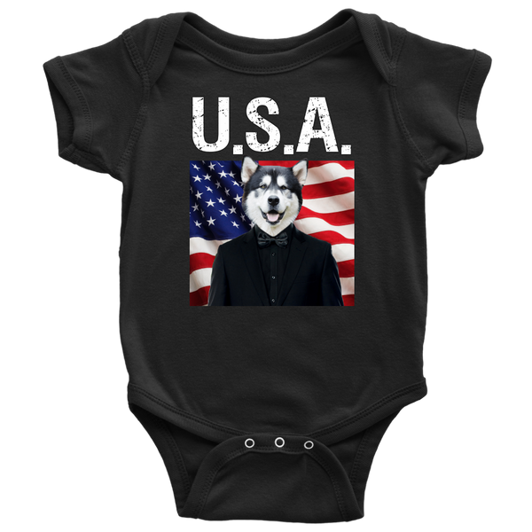 Apollo Alaskan Malamute USA Onesie - The Green Gypsie