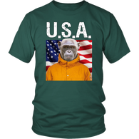 Chip Monkey USA T Shirt - The Green Gypsie