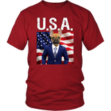 Finn French Bulldog USA T Shirt - The Green Gypsie