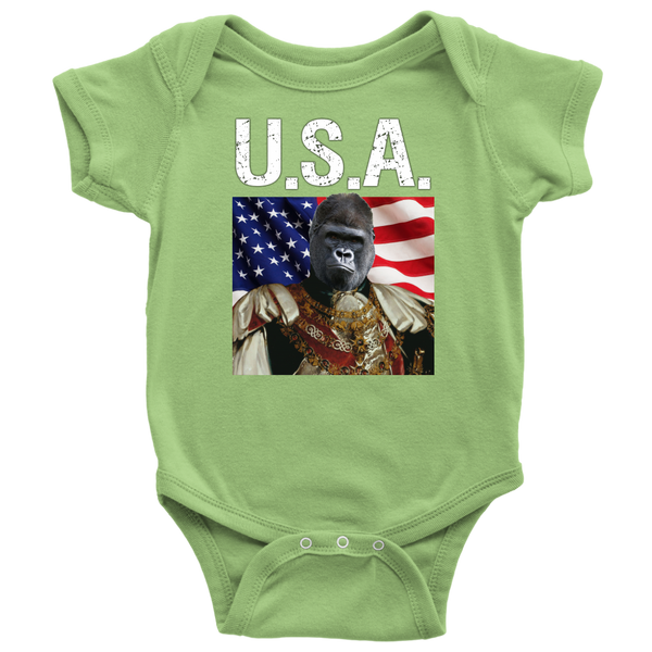Albert Gorilla USA Onesie - The Green Gypsie