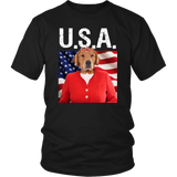 GiGi Golden Retriever USA T Shirt - The Green Gypsie