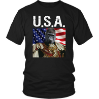 Albert Gorilla USA T Shirt - The Green Gypsie