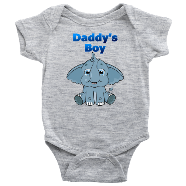 Daddy's Boy Elephant Onesie - The Green Gypsie