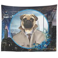 Pugsley City Pug Tapestry