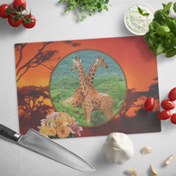 Lucy & Ricky Giraffe Cutting Board - The Green Gypsie