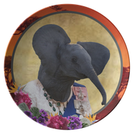 Ellie Elephant Plate - The Green Gypsie