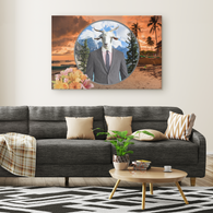 Ray Goat Rectangle Canvas - The Green Gypsie