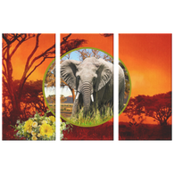 Emma Elephant 3 Canvas Set - The Green Gypsie