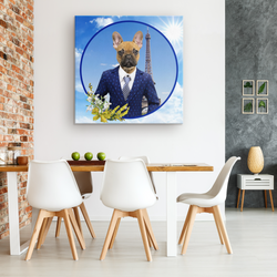 Finn French Bulldog Canvas