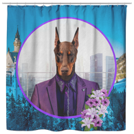Prince Doberman Pincher Shower Curtain