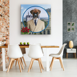 Bruno Boxer Square Canvas - The Green Gypsie