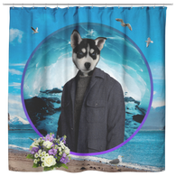 Niko Siberian Huskie Shower Curtain