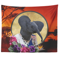 Ellie Elephant Tapestry - The Green Gypsie