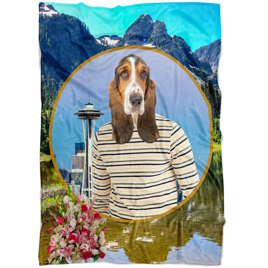 Henry Basset Hound Blanket - The Green Gypsie