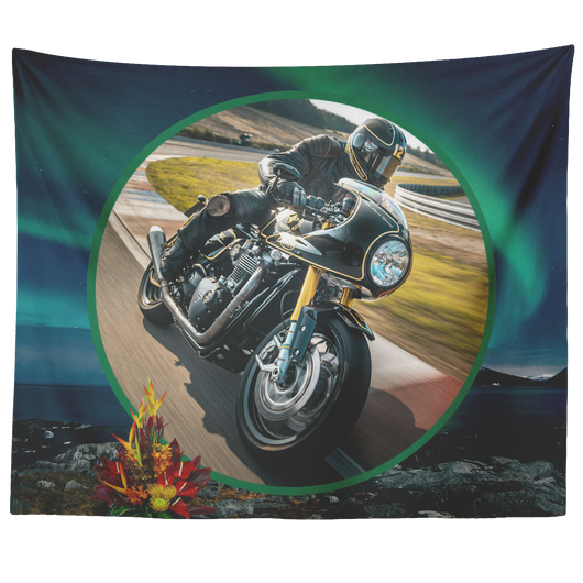 Motorcycle Tapestry - The Green Gypsie