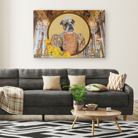 Grace Bulldog Rectangle Canvas - The Green Gypsie