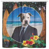 Peter Pit Bull Terrier Shower Curtain