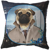 Pugsley City Pug Pillow - The Green Gypsie