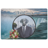 Frankie Black Labrador Doormat - The Green Gypsie