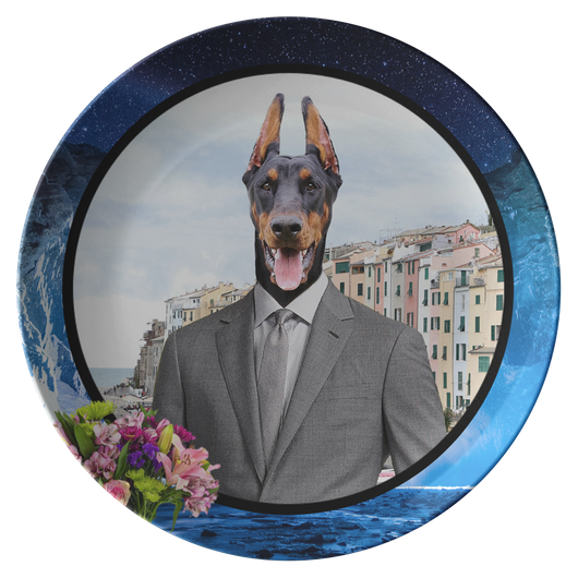 Cooper Doberman Plate - The Green Gypsie