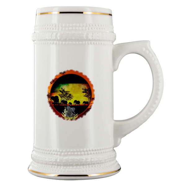 Elephant Sunset Beer Stein - The Green Gypsie