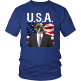 Bruce Bull Dog USA Unisex T Shirt - The Green Gypsie
