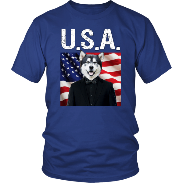 Apollo Alaskan Malamute USA T Shirt - The Green Gypsie