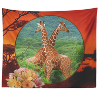 Lucy & Ricky Giraffe Tapestry - The Green Gypsie