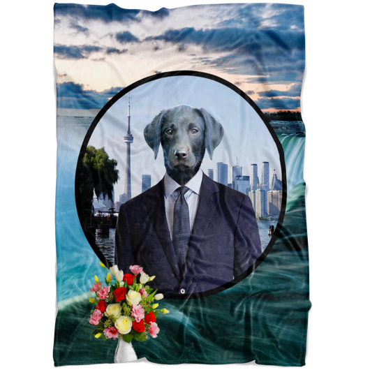 Frankie Black Labrador Blanket - The Green Gypsie