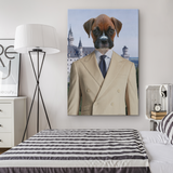 Bruno Boxer Rectangle Canvas - The Green Gypsie