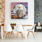 Benji Yorkshire Terrier Square Canvas - The Green Gypsie