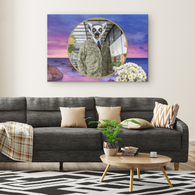 Alex Lemur Rectangle Canvas - The Green Gypsie