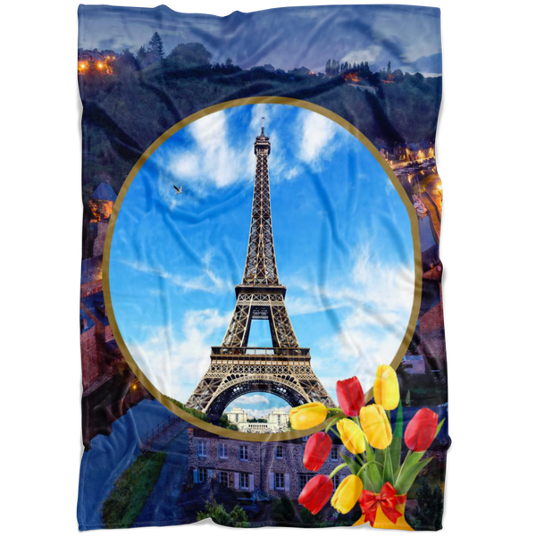 France Eiffel Tower Blanket - The Green Gypsie
