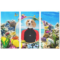 Bella Beagle 3 Canvas Set - The Green Gypsie