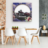Harley Motorcycle Canvas - The Green Gypsie